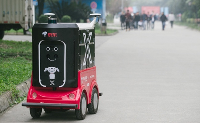 JD.com robot delivery thuong mai dien tu